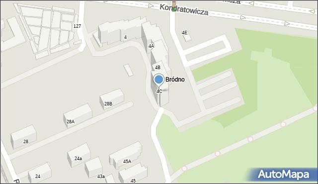 Warszawa, Kondratowicza Ludwika, 4C, mapa Warszawy
