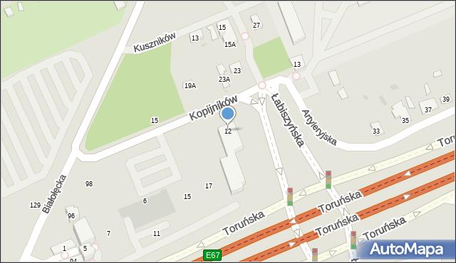Warszawa, Kopijników, 12, mapa Warszawy