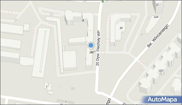 Warszawa, Kondratowicza Ludwika, 18b, mapa Warszawy