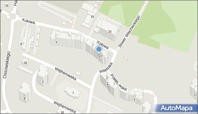 Warszawa, Kołowa, 2, mapa Warszawy
