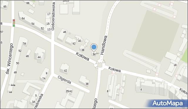 Warszawa, Kołowa, 34, mapa Warszawy