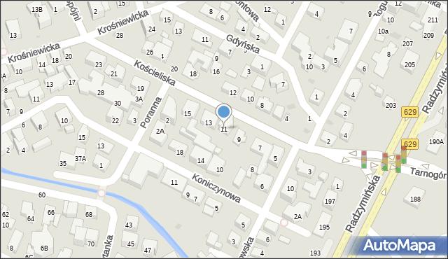 Warszawa, Kościeliska, 11, mapa Warszawy