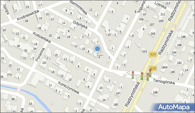 Warszawa, Kościeliska, 6, mapa Warszawy