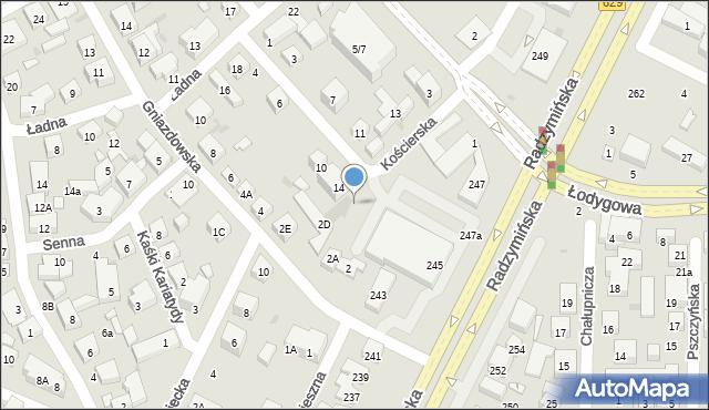 Warszawa, Kościerska, 16, mapa Warszawy