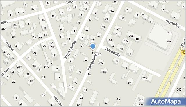Warszawa, Kolejarska, 13, mapa Warszawy