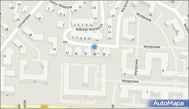Warszawa, Korsarska, 26, mapa Warszawy