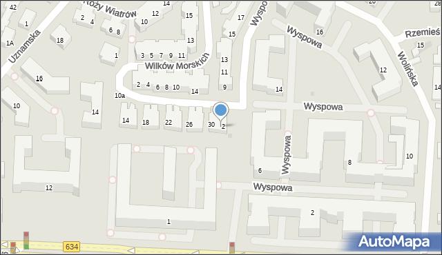 Warszawa, Korsarska, 32, mapa Warszawy