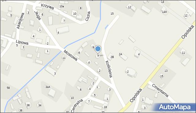 Wrzelowiec, Kościelna, 7, mapa Wrzelowiec