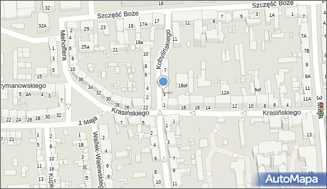 Zabrze, Kobylińskiego Stanisława, 3, mapa Zabrza