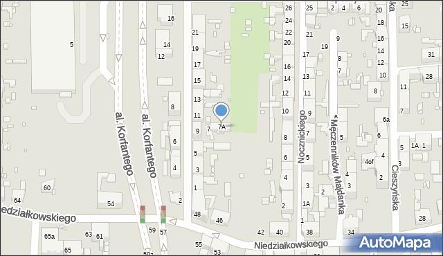 Zabrze, Kochanowskiego Jana, 7A, mapa Zabrza