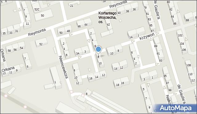 Zabrze, Korzeniowskiego Józefa, 8, mapa Zabrza