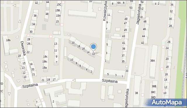 Zabrze, Kowalczyka Jana, 12, mapa Zabrza