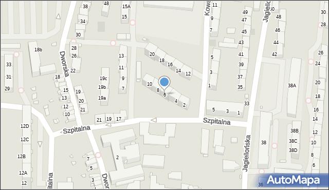 Zabrze, Kowalczyka Jana, 6, mapa Zabrza