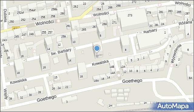 Zabrze, Kowalska, 12, mapa Zabrza