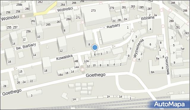 Zabrze, Kowalska, 5, mapa Zabrza
