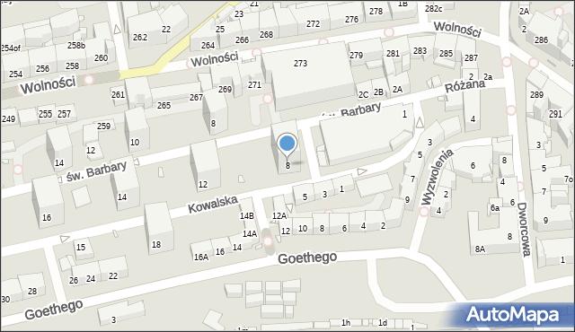 Zabrze, Kowalska, 8, mapa Zabrza