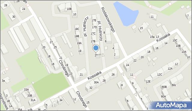 Zabrze, Kossaka Wojciecha, 17, mapa Zabrza