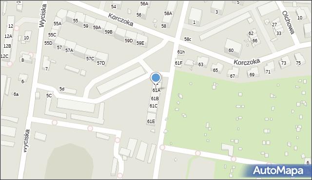 Zabrze, Korczoka Antoniego, ks. dr., 61A, mapa Zabrza