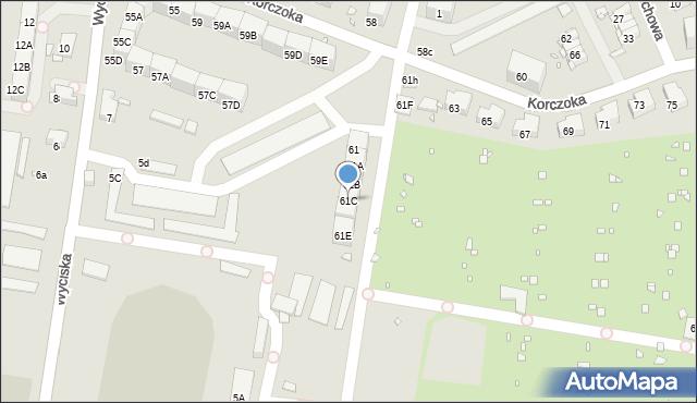 Zabrze, Korczoka Antoniego, ks. dr., 61C, mapa Zabrza