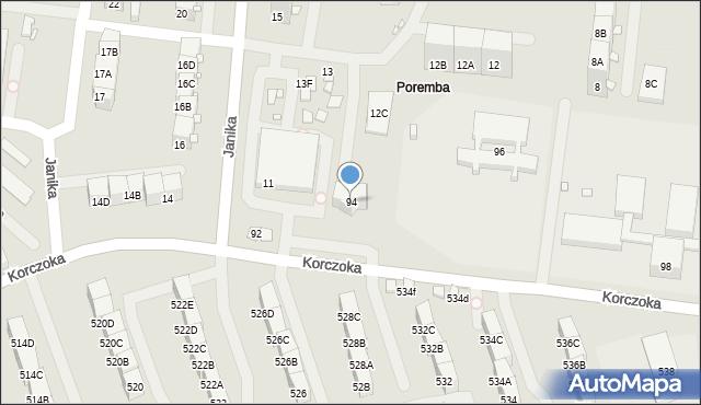 Zabrze, Korczoka Antoniego, ks. dr., 94, mapa Zabrza