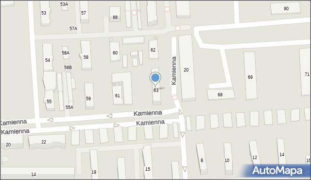 Zamość, Koszary, 63, mapa Zamościa