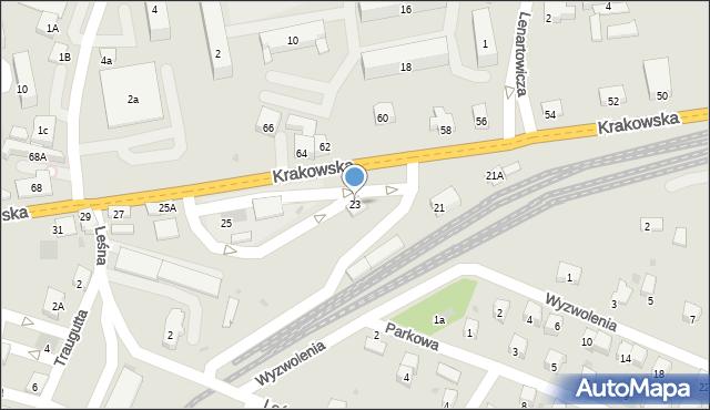Andrychów, Krakowska, 23, mapa Andrychów