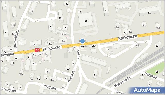 Andrychów, Krakowska, 27, mapa Andrychów