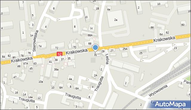 Andrychów, Krakowska, 31, mapa Andrychów