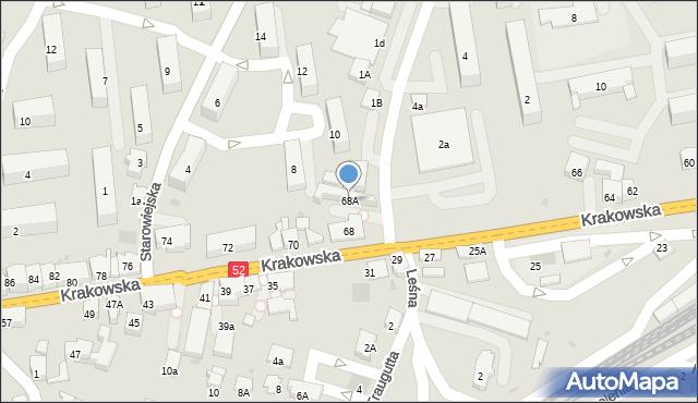 Andrychów, Krakowska, 68A, mapa Andrychów