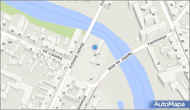 Bydgoszcz, Królowej Jadwigi, 14, mapa Bydgoszczy