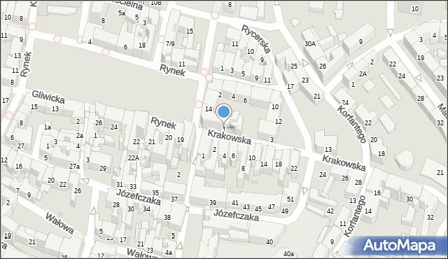 Bytom, Krakowska, 1, mapa Bytomia