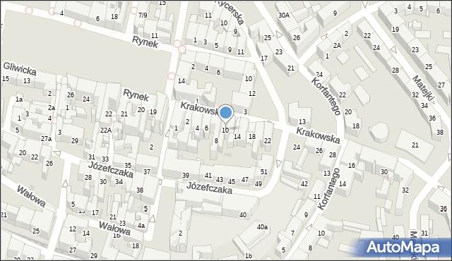 Bytom, Krakowska, 10, mapa Bytomia