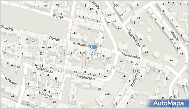 Bytom, Krakowska, 12, mapa Bytomia