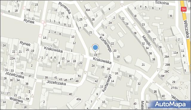 Bytom, Krakowska, 13, mapa Bytomia