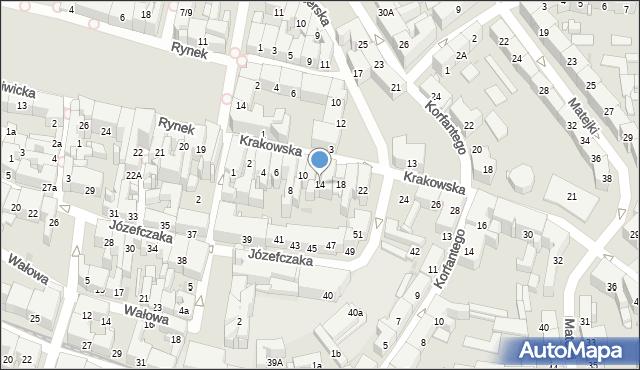 Bytom, Krakowska, 14, mapa Bytomia