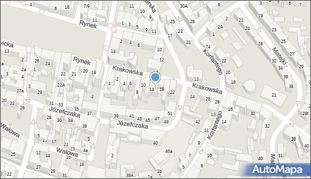 Bytom, Krakowska, 16, mapa Bytomia