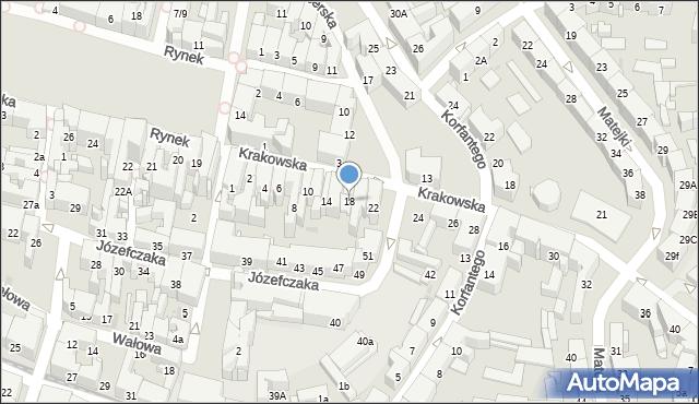 Bytom, Krakowska, 18, mapa Bytomia