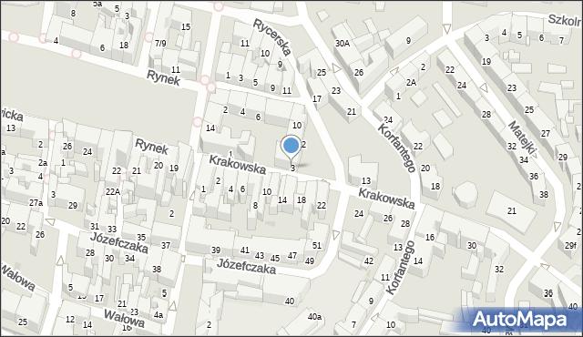 Bytom, Krakowska, 3, mapa Bytomia