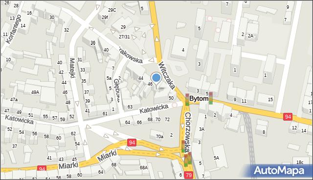 Bytom, Krakowska, 48, mapa Bytomia