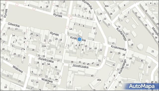 Bytom, Krakowska, 6, mapa Bytomia