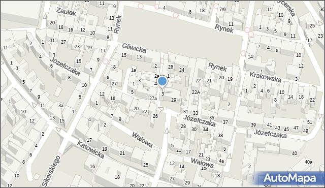 Bytom, Krawiecka, 3, mapa Bytomia