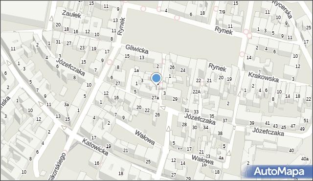 Bytom, Krawiecka, 6, mapa Bytomia