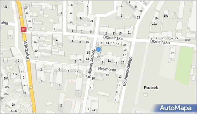 Bytom, Królowej Jadwigi, 12, mapa Bytomia