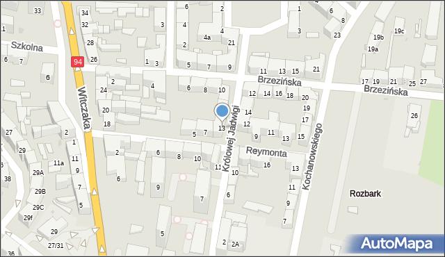 Bytom, Królowej Jadwigi, 13, mapa Bytomia