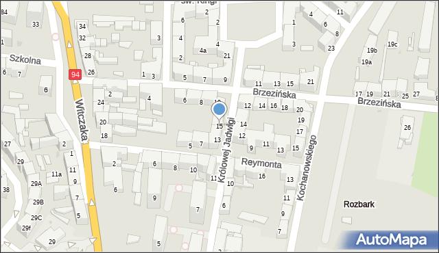 Bytom, Królowej Jadwigi, 15, mapa Bytomia