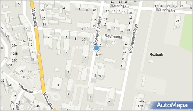 Bytom, Królowej Jadwigi, 6, mapa Bytomia