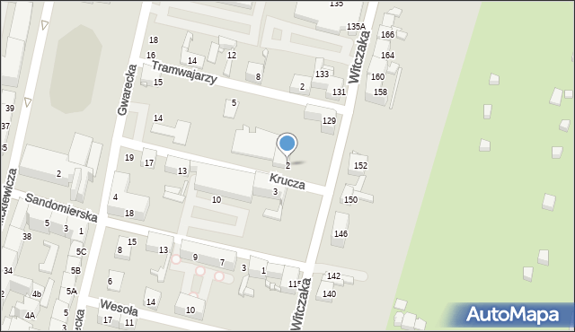 Bytom, Krucza, 2, mapa Bytomia