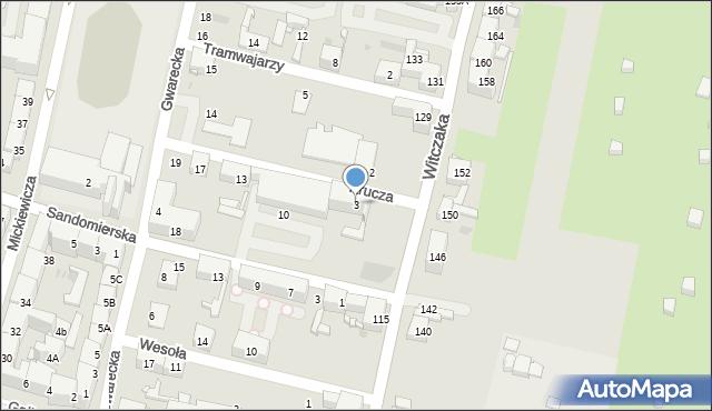 Bytom, Krucza, 3, mapa Bytomia