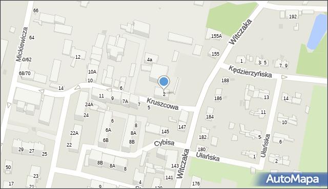 Bytom, Kruszcowa, 2, mapa Bytomia