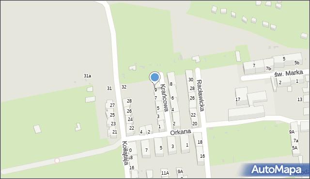 Bytom, Krańcowa, 9, mapa Bytomia